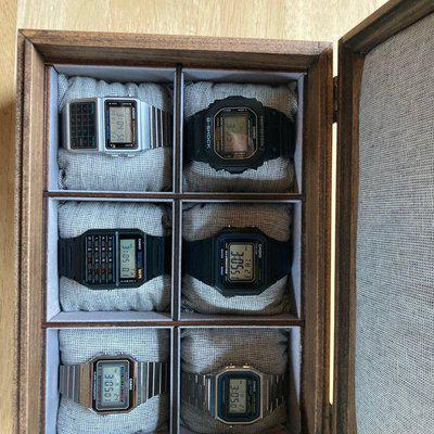 WTS Casio Watch Collection and watch box (6 watches)