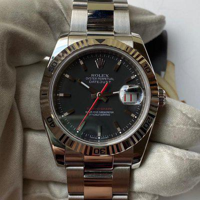 FS: Rolex Turn-O-Graph DateJust 116264 Gery/Black Dial Stainless Stee Box & Papers