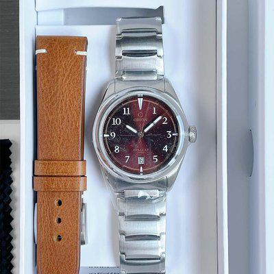 FS: Orion Hellcat Burgundy, BNIB and Unworn, with Bracelet and Leather Strap