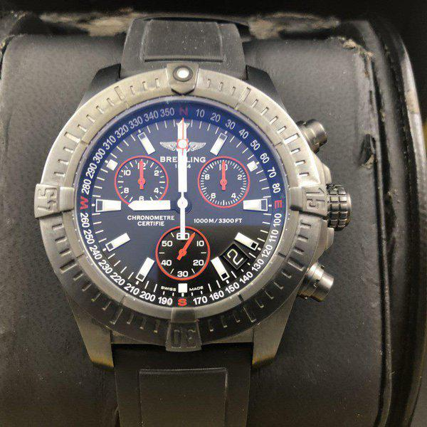 FS: Breitling Avenger Seawolf Chrono Blacksteel REDUCED Limited Edition M73390 - Exce 6