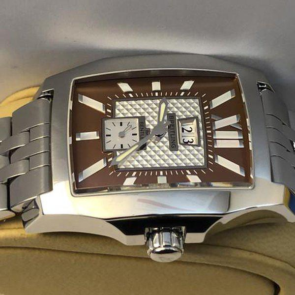 FS: Breitling Bentley Flying B No 3, A16362, Big Date, Steel Brown, Bracelet, Complete. NEW Price Reduction 5