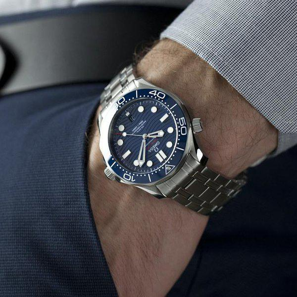 fsot - Omega Seamaster 300 - Blue - Wave Dial - 42mm - Master 8800 ( new / 2020 ) 2