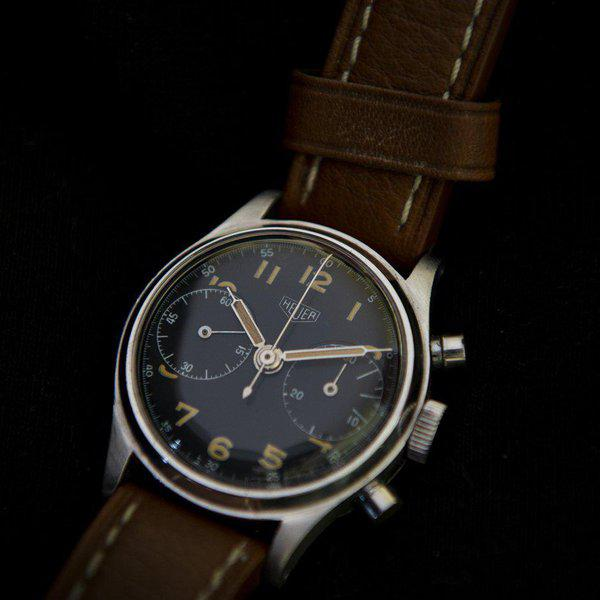 FS: Heuer 2406 chronograph from the 1940s with Landeron 13 movement 7