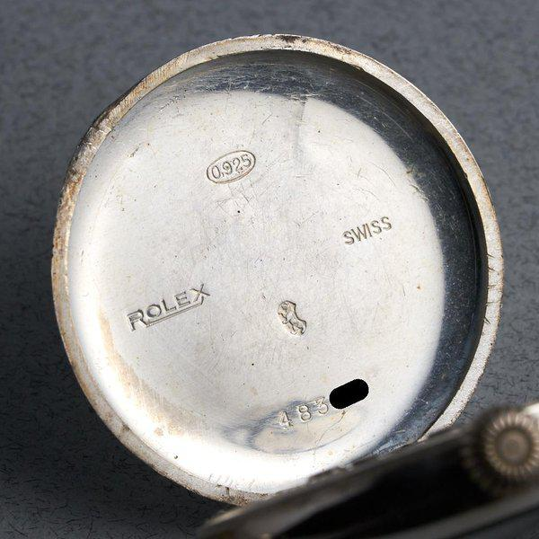 """FS: 1910's Rolex Silver Trench Watch with """"Dunklings"""" Double Name Porcelain Dial 9"""