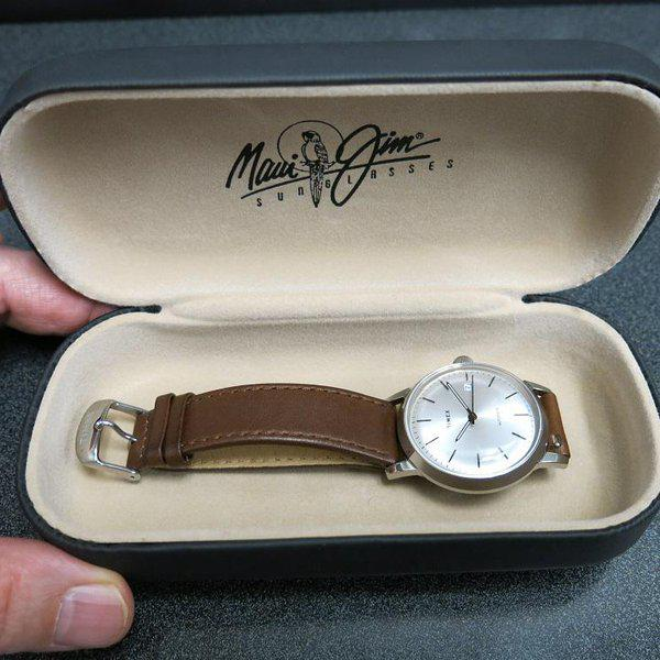 SOLD - Timex Marlin Silver Sunburst dial Automatic 13