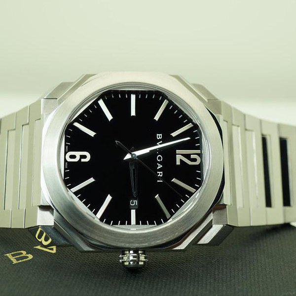 FSOT:MINT Bvlgari OCTO AUTOMATIC BLACK DIAL STAINLESS STEEL BRACELET 2019 WARRANTY 9