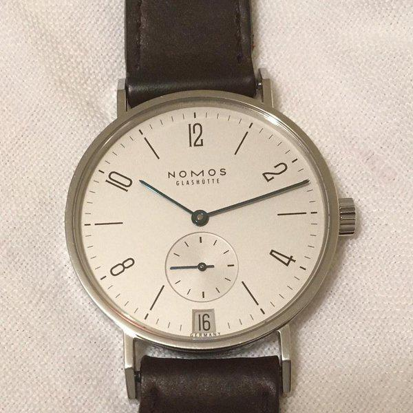 FS: NOMOS Tangente Date (ref. 107) with extra strap 1