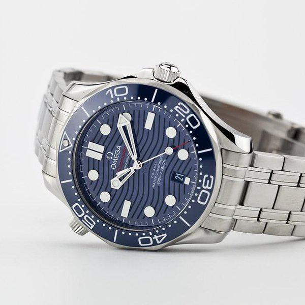 fsot - Omega Seamaster 300 - Blue - Wave Dial - 42mm - Master 8800 ( new / 2020 ) 1