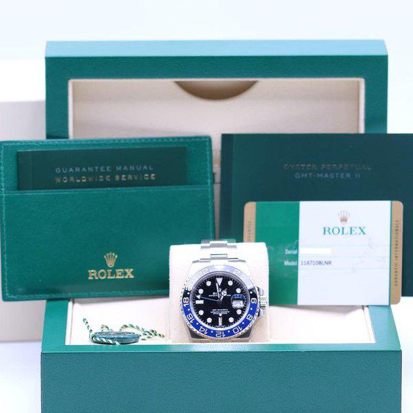 FSOT: Rolex GMT Master II 116710BLNR Stainless - Like NOS - Box & Papers 2