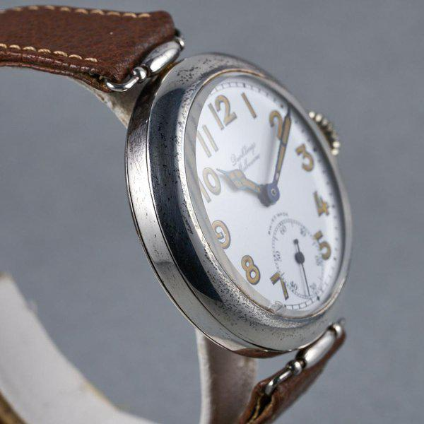 FS: 1920's Dunklings Trench Watch with White Porcelain Dial 6
