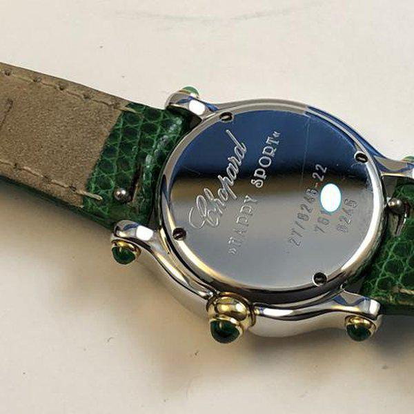 FS: Ladies Chopard Happy Sport Diamonds and Emeralds Steel & Gold Boxes and Papers. Newer Price Reduction. 9