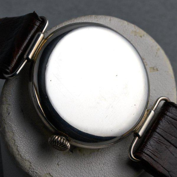 FS: 1920's Dunklings Trench Watch with White Porcelain Dial 10
