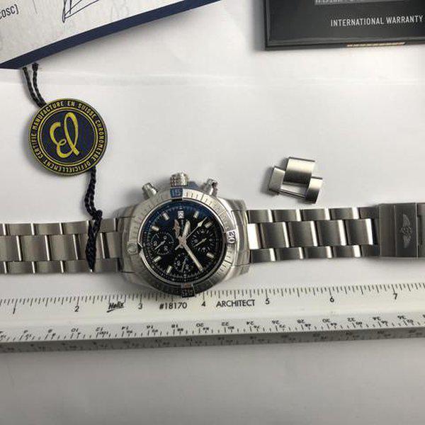 FS: LNIB Breitling A13385 Avenger  II Chonograph 43, Steel, Bracelet, Black Dial, Complete. 15