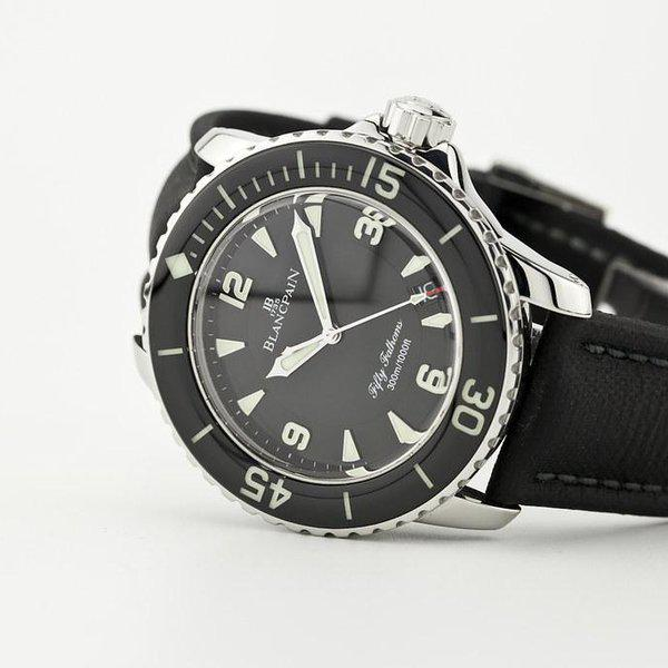 fsot - Blancpain Fifty Fathoms - Black - 45mm 5015-1130-52A ( complete ) 1