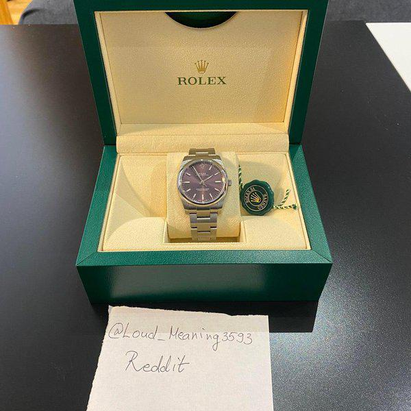 [WTS] Rolex Oyster Perpetual 34mm Purple Dial 114200 2018 2