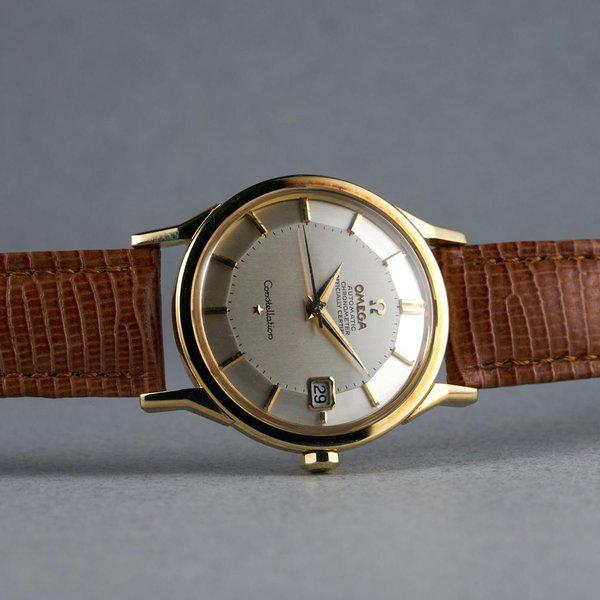 FS: 1960s YG Omega Constellation Ref: 168.005 with Silver Pie-Pan Dial 12