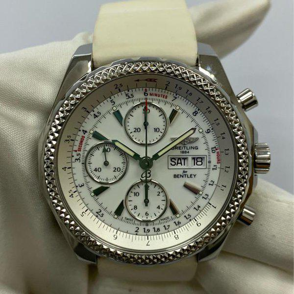 FS:Breitling Bentley GT Chronograph White Dial A1336212/A726 1