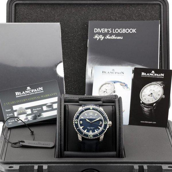 fsot - Blancpain Fifty Fathoms - Blue - Titanium 45mm - 5015-12B40-O52A (new / 2020) 10