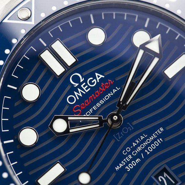 fsot - Omega Seamaster 300 - Blue - Wave Dial - 42mm - Master 8800 ( new / 2020 ) 7