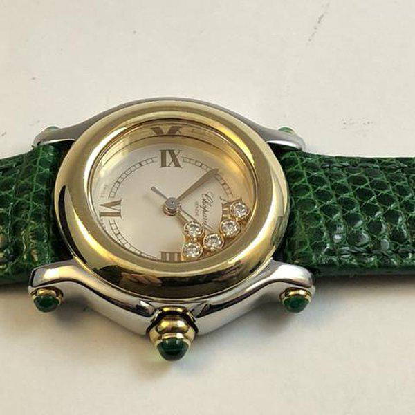 FS: Ladies Chopard Happy Sport Diamonds and Emeralds Steel & Gold Boxes and Papers. Newer Price Reduction. 5