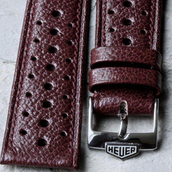 Vintage racing bands as originally supplied on many Heuers 4