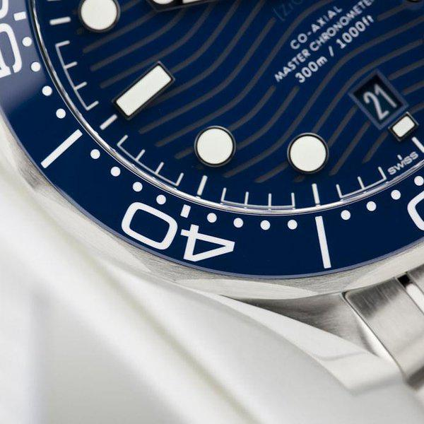 fsot - Omega Seamaster 300 - Blue - Wave Dial - 42mm - Master 8800 ( new / 2020 ) 6