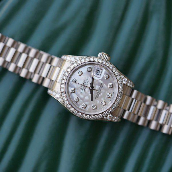 FS:Rolex Ladies President 179159 White Gold MOP diamond dial, be 1