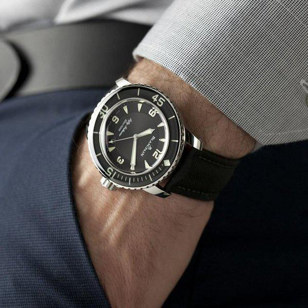 fsot - Blancpain Fifty Fathoms - Black - 45mm 5015-1130-52A ( complete ) 2