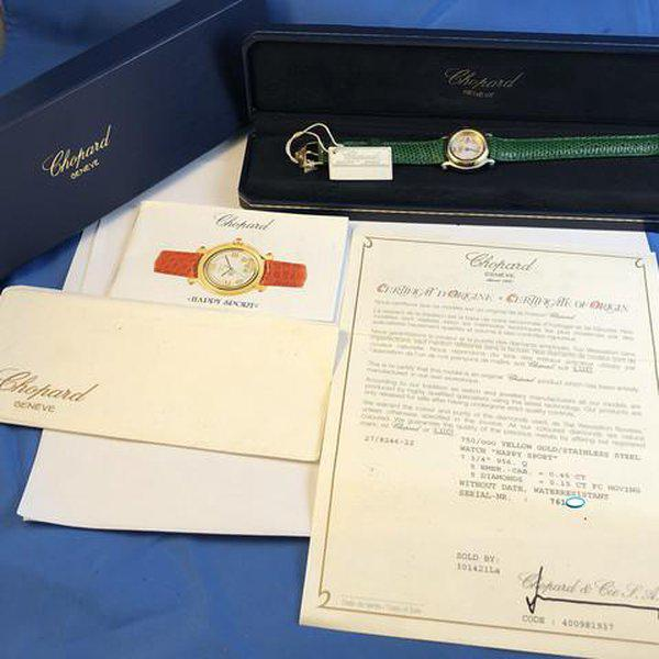 FS: Ladies Chopard Happy Sport Diamonds and Emeralds Steel & Gold Boxes and Papers. Newer Price Reduction. 2