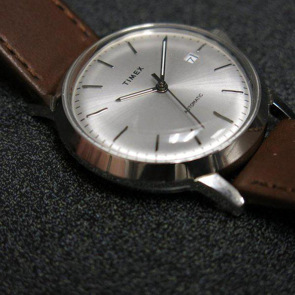 SOLD - Timex Marlin Silver Sunburst dial Automatic 7