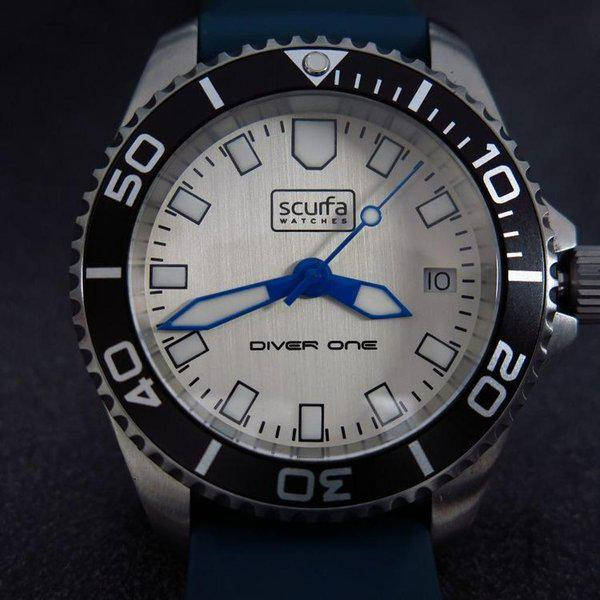 TRADED - Sold Out Scurfa D1 500m with Silver Dial Blue hands 1