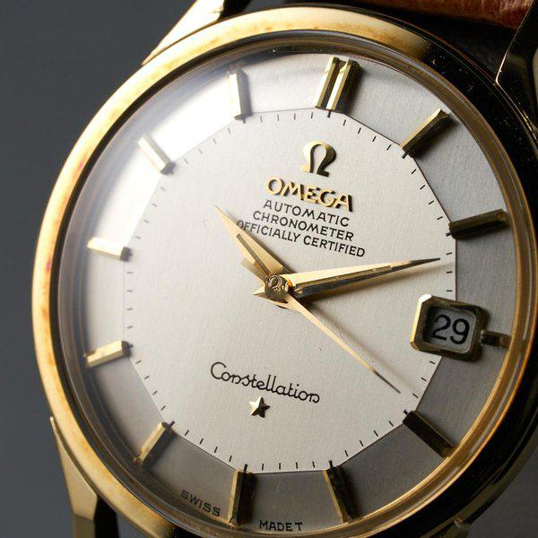 FS: 1960s YG Omega Constellation Ref: 168.005 with Silver Pie-Pan Dial 5