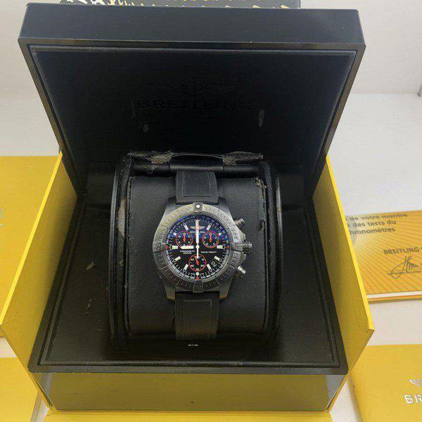 FS: Breitling Avenger Seawolf Chrono Blacksteel REDUCED Limited Edition M73390 - Exce 5