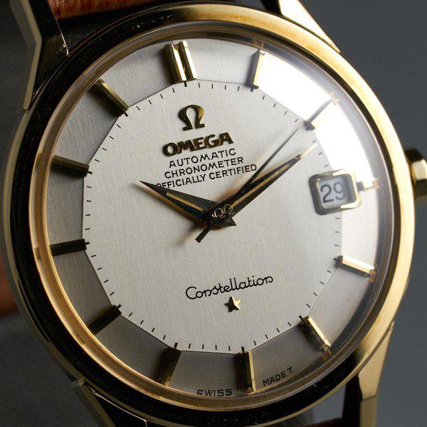 FS: 1960s YG Omega Constellation Ref: 168.005 with Silver Pie-Pan Dial 4