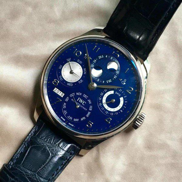 FS: IW503203 IWC Portuguese Perpetual Calendar White Gold Blue Dial TOP MINT CONDITION cheapest onli 1