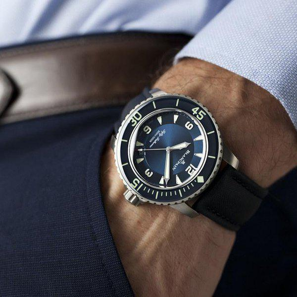 fsot - Blancpain Fifty Fathoms - Blue - Titanium 45mm - 5015-12B40-O52A (new / 2020) 2