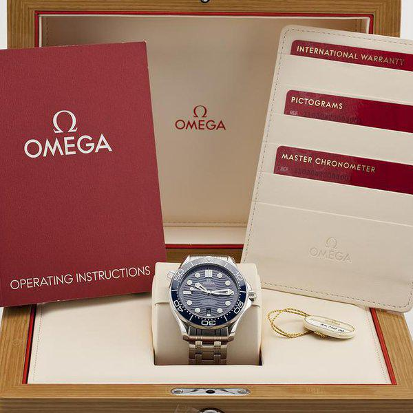 fsot - Omega Seamaster 300 - Blue - Wave Dial - 42mm - Master 8800 ( new / 2020 ) 13