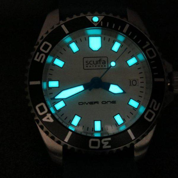 TRADED - Sold Out Scurfa D1 500m with Silver Dial Blue hands 5