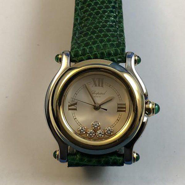 FS: Ladies Chopard Happy Sport Diamonds and Emeralds Steel & Gold Boxes and Papers. Newer Price Reduction. 1