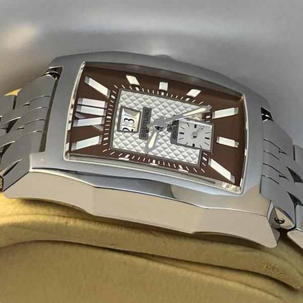 FS: Breitling Bentley Flying B No 3, A16362, Big Date, Steel Brown, Bracelet, Complete. NEW Price Reduction 6