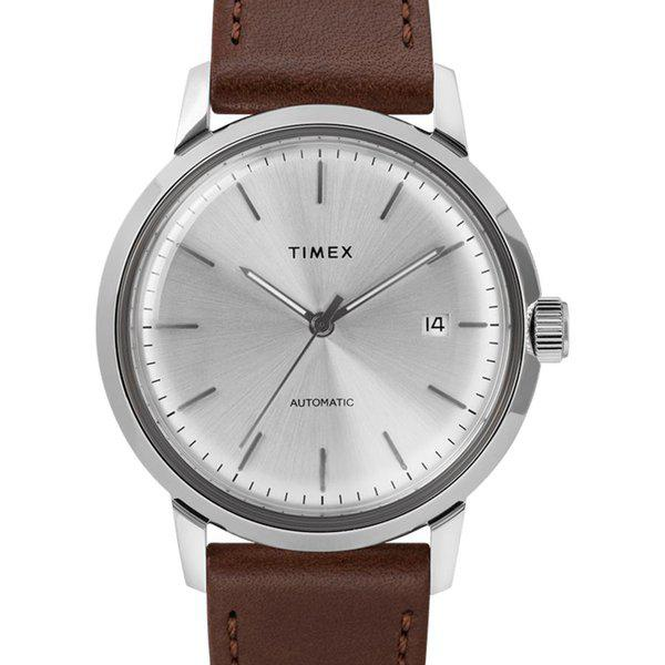 SOLD - Timex Marlin Silver Sunburst dial Automatic 3
