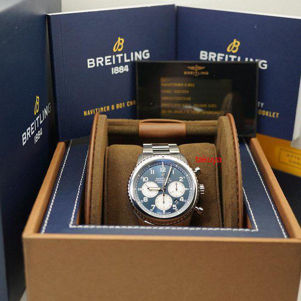 FSOT:Breitling NAVITIMER 8 B01 CHRONOGRAPH AUTOMATIC BLUE DIAL 43MM WARRANTY FULL SET 2
