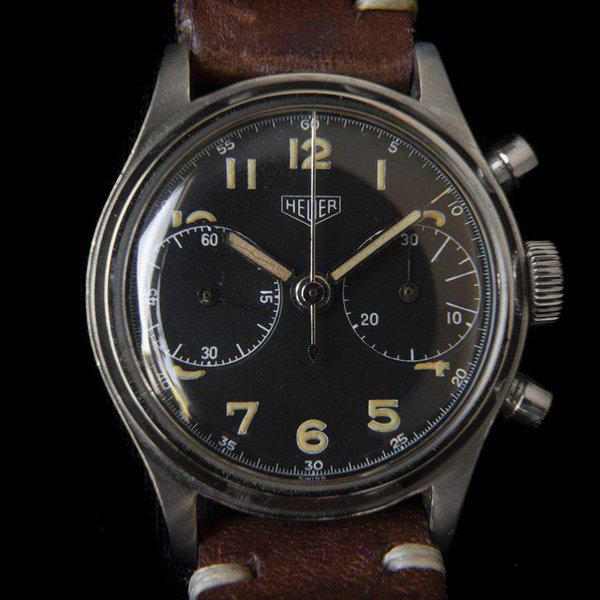 FS: Heuer 2406 chronograph from the 1940s with Landeron 13 movement 1