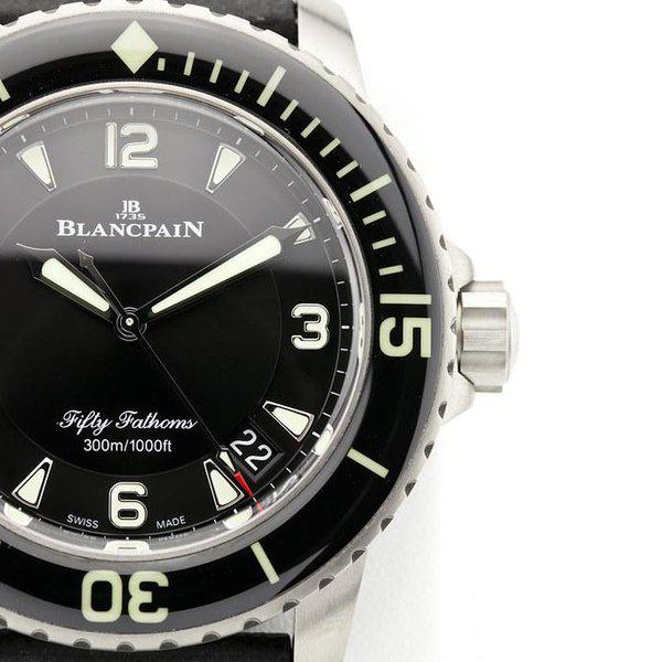 fsot - Blancpain Fifty Fathoms - Black Titanium - 45mm 5015-12B30-B52 ( new / 2020 ) 4