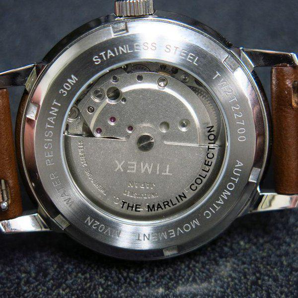 SOLD - Timex Marlin Silver Sunburst dial Automatic 10
