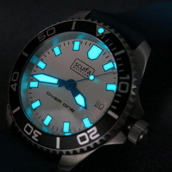 TRADED - Sold Out Scurfa D1 500m with Silver Dial Blue hands 6