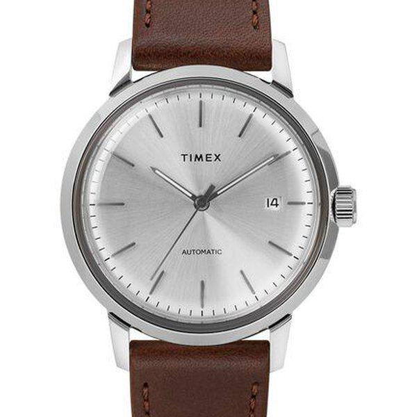 SOLD - Timex Marlin Silver Sunburst dial Automatic 1