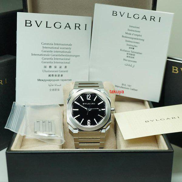 FSOT:MINT Bvlgari OCTO AUTOMATIC BLACK DIAL STAINLESS STEEL BRACELET 2019 WARRANTY 2