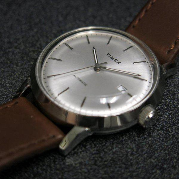 SOLD - Timex Marlin Silver Sunburst dial Automatic 5