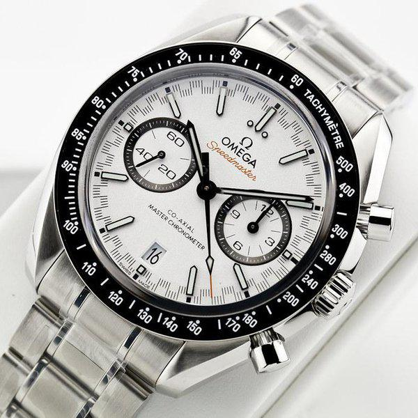 fsot - Omega Speedmaster - Racing Master Co-Axial 44.25mm - White Dial ( new / 2019 ) 6